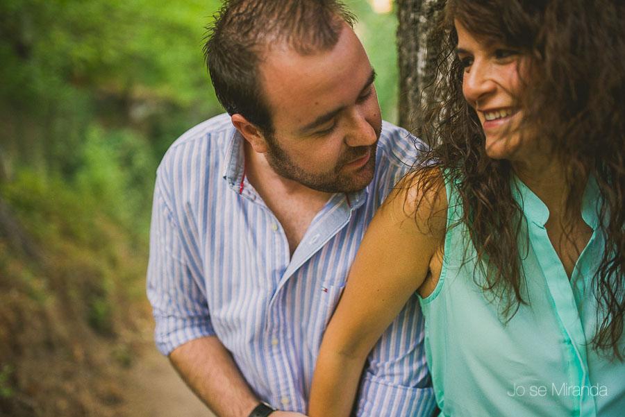 Virginia y Fran durante su sesión de fotos de pre-boda en Valdepeñas de Jaén