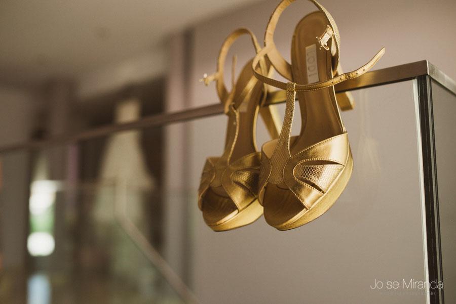 zapatos de novia dorados Lodi