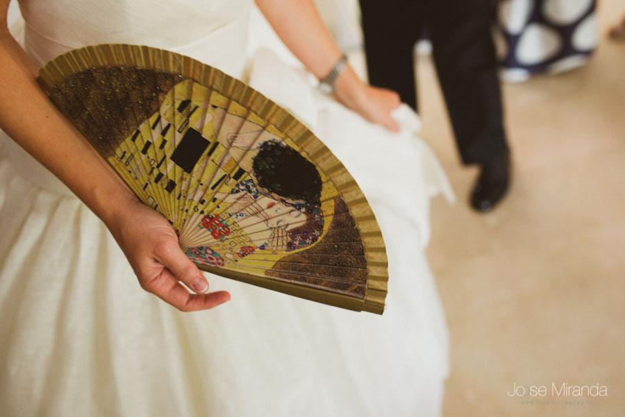 abanico de novia de gustav klimt