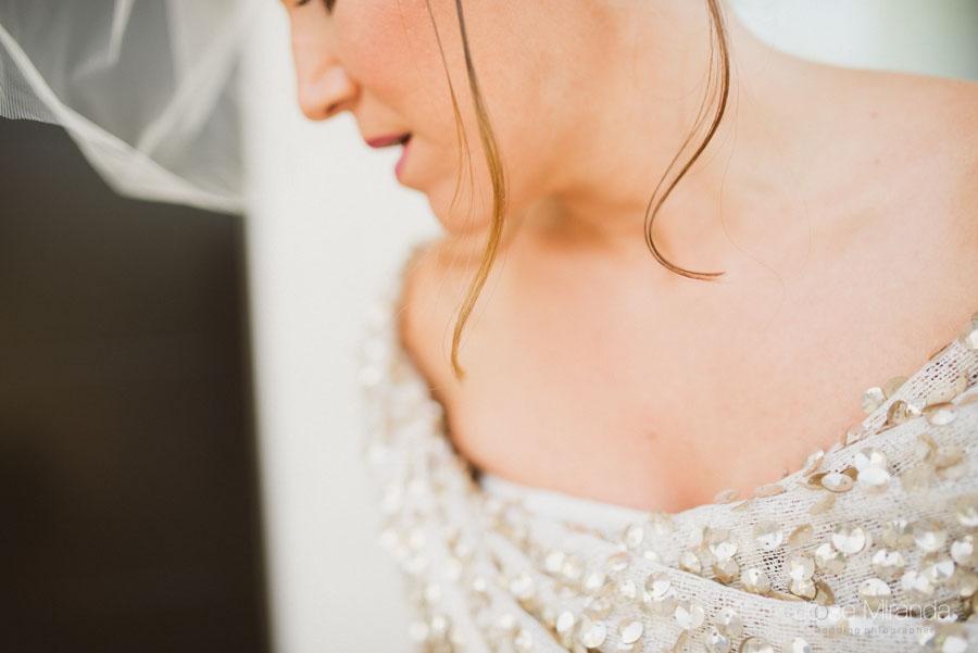 detalle de peinado de novia
