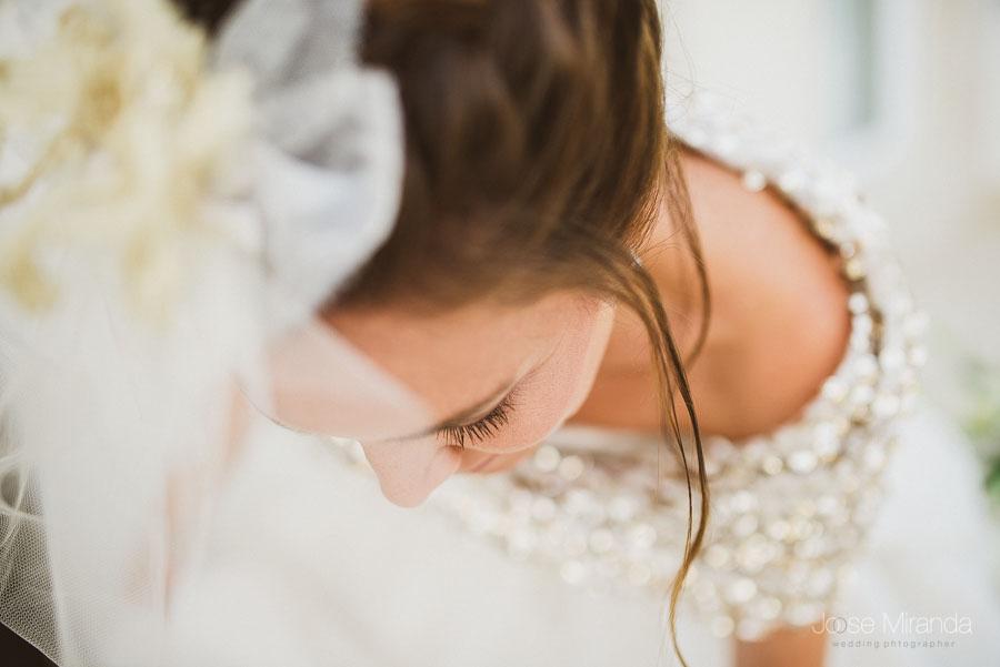 retrato de novia sencillo