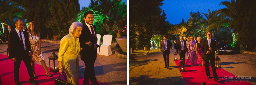 Invitados a la boda llegando al Cortijo del Madroño en Martos