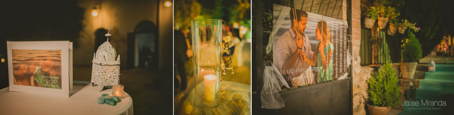 Detalles de la boda en una fotografía de boda en el Madroño de Jose Miranda