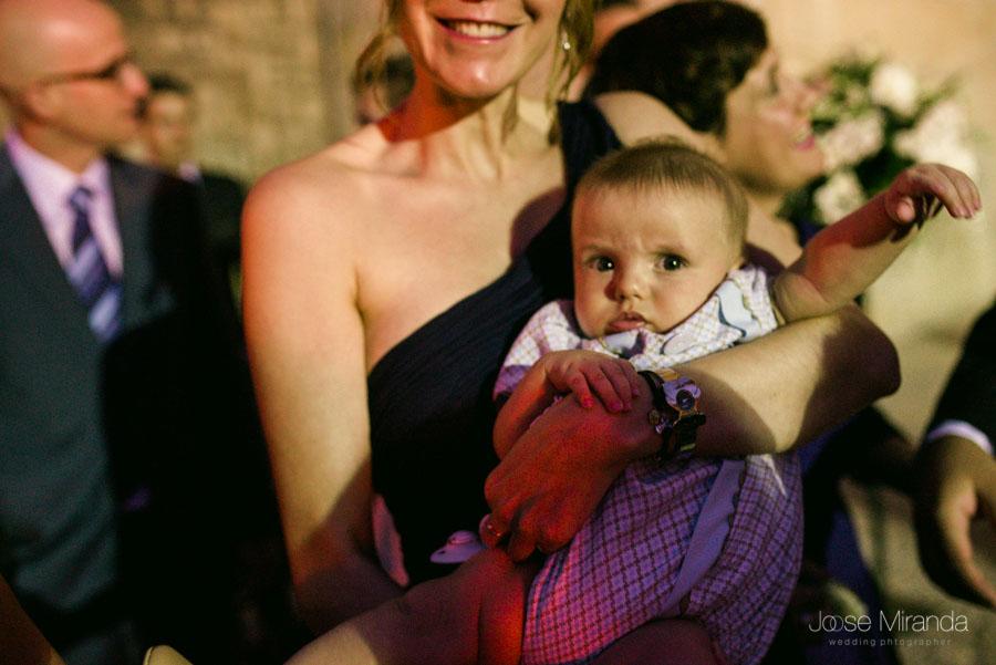 Bebé en la boda