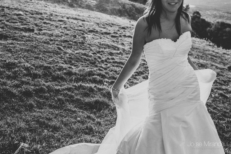 Susana y su vestido en una fotografía de post boda de Jose Miranda Jaén Martos
