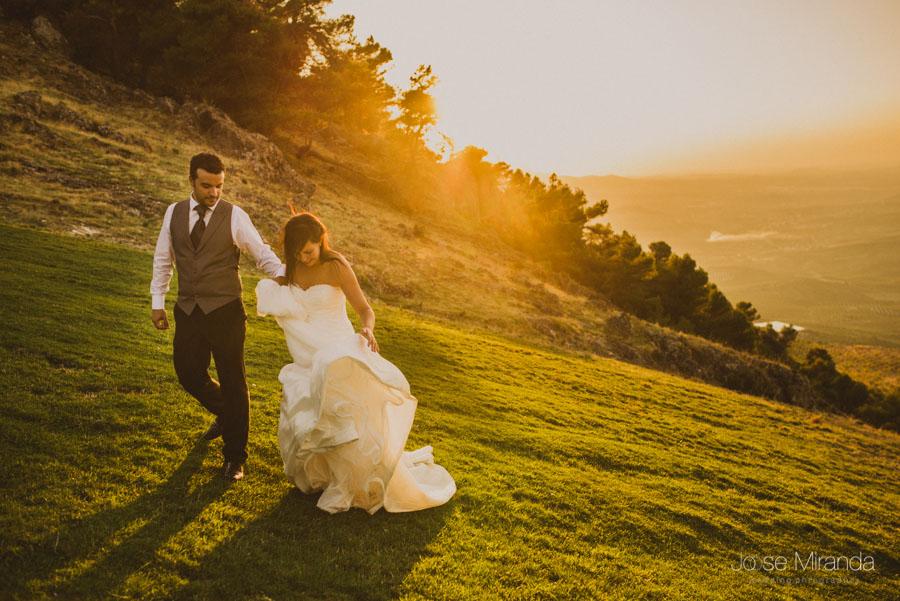en una fotografía de post boda de Jose Miranda Jaén Martos