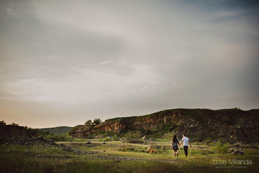 Fotos de preboda en el campo fotografia de boda  Alcaudete La bobadilla