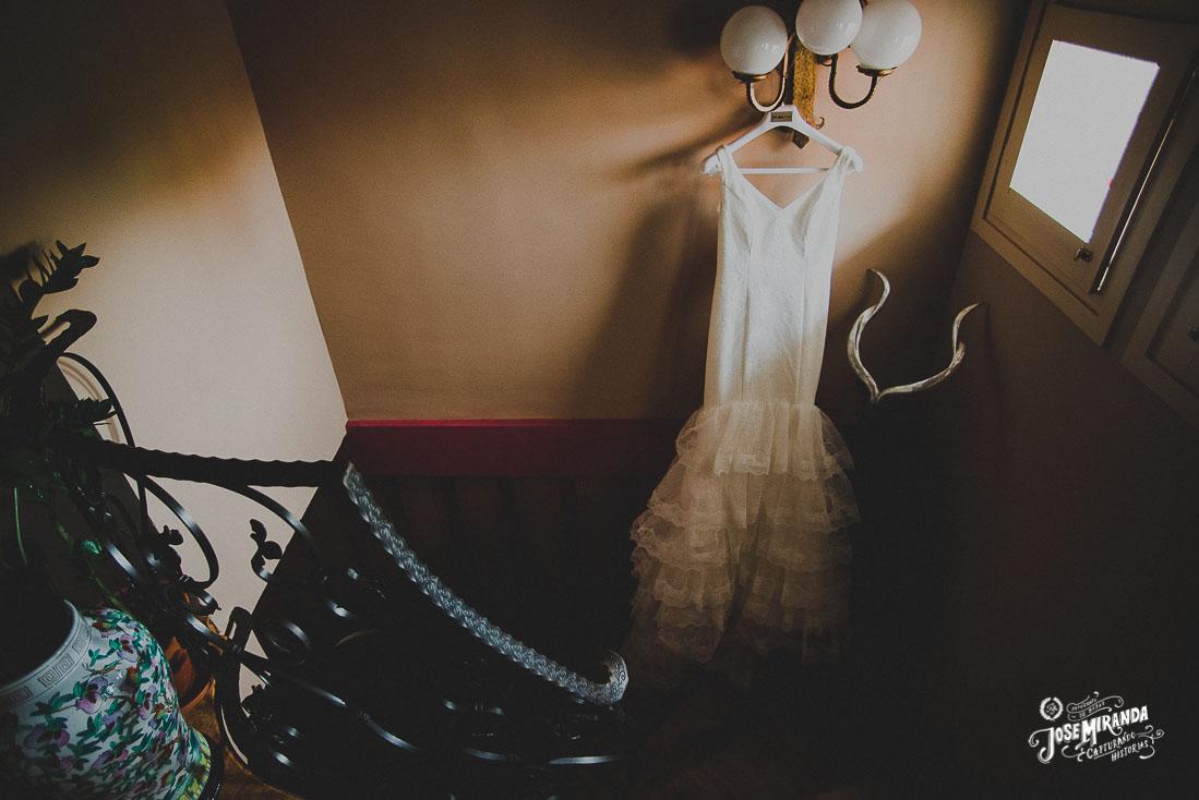 Fotografía de boda Jose Miranda en Linares vestido de novia