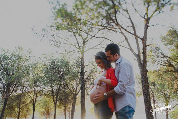 Mati, David...y Minerva. Fotografía de embarazo.